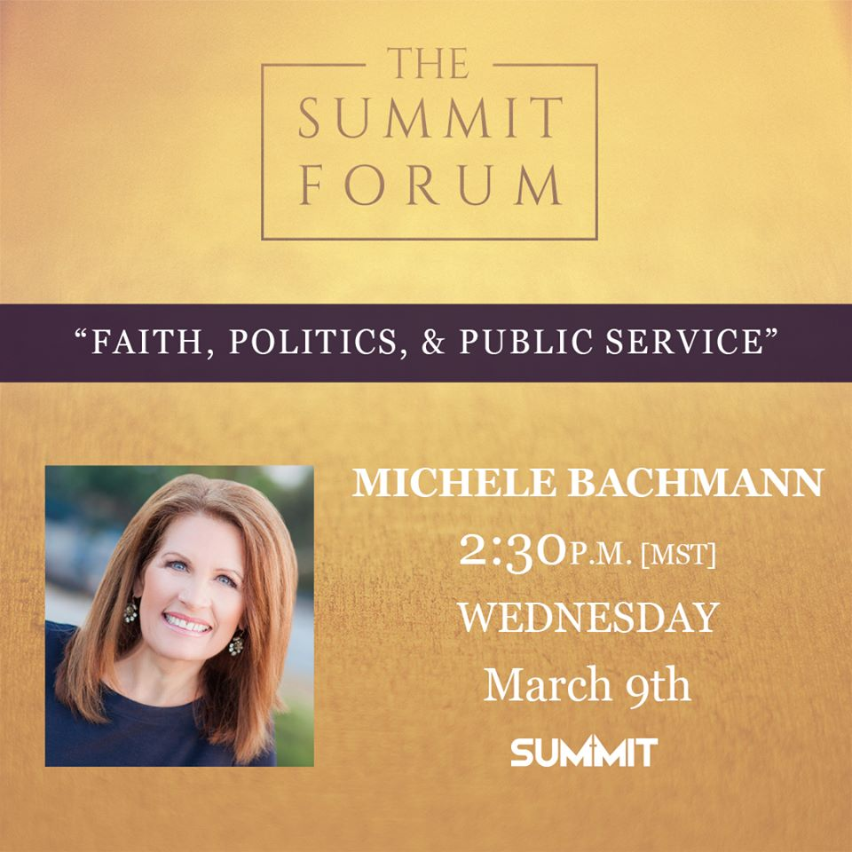 Discuss Faith, Politics, and Public Service with Michele Bachmann